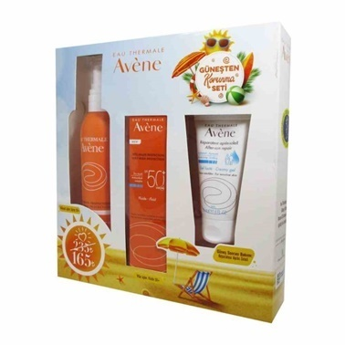 Avene AVENE Güneşten Korunma Seti (Fluide SPF50+ 50 ml, Spray SPF50+ 200 ml & After Sun 50 ml) Renksiz